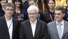 Predsjednik RH Ivo Josipović, rektor Sveučilišta u Rijeci prof.dr. Pero Lučin sa sportašima Sveučilišta u Rijeci
